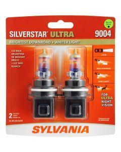 SYLVANIA 9004 SilverStar Ultra High Performance Halogen Headlight Bulb, (Pack of 2)
