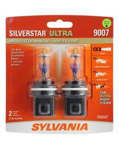 SYLVANIA 9007 SilverStar Ultra High Performance Halogen Headlight Bulb, (Contains 2 Bulbs)
